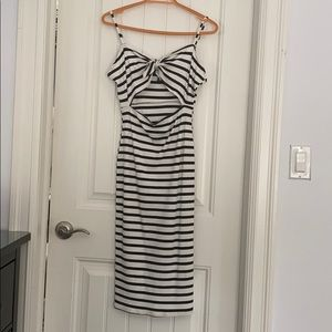Forever 21 Striped Bodycon Cutout dress